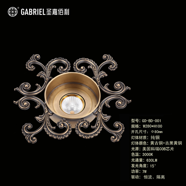 GD-BD-001 黄古铜+古黑黄铜